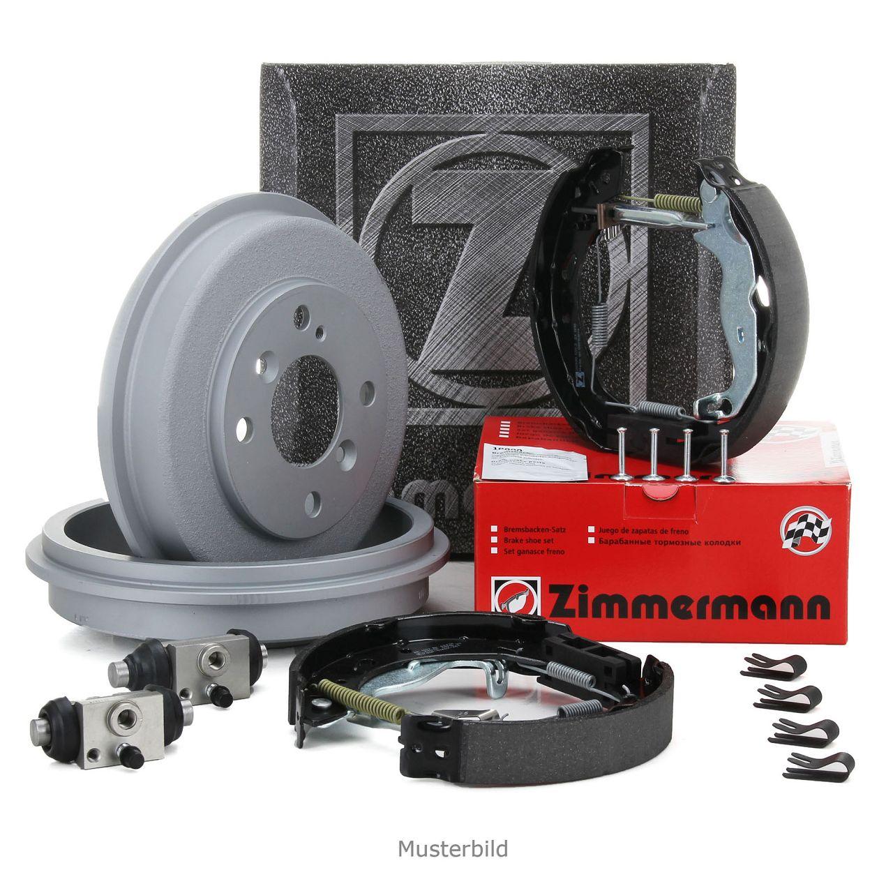 ZIMMERMANN Bremstrommel + Backen + Radbremszylinder VW Golf 1 2 Polo hinten