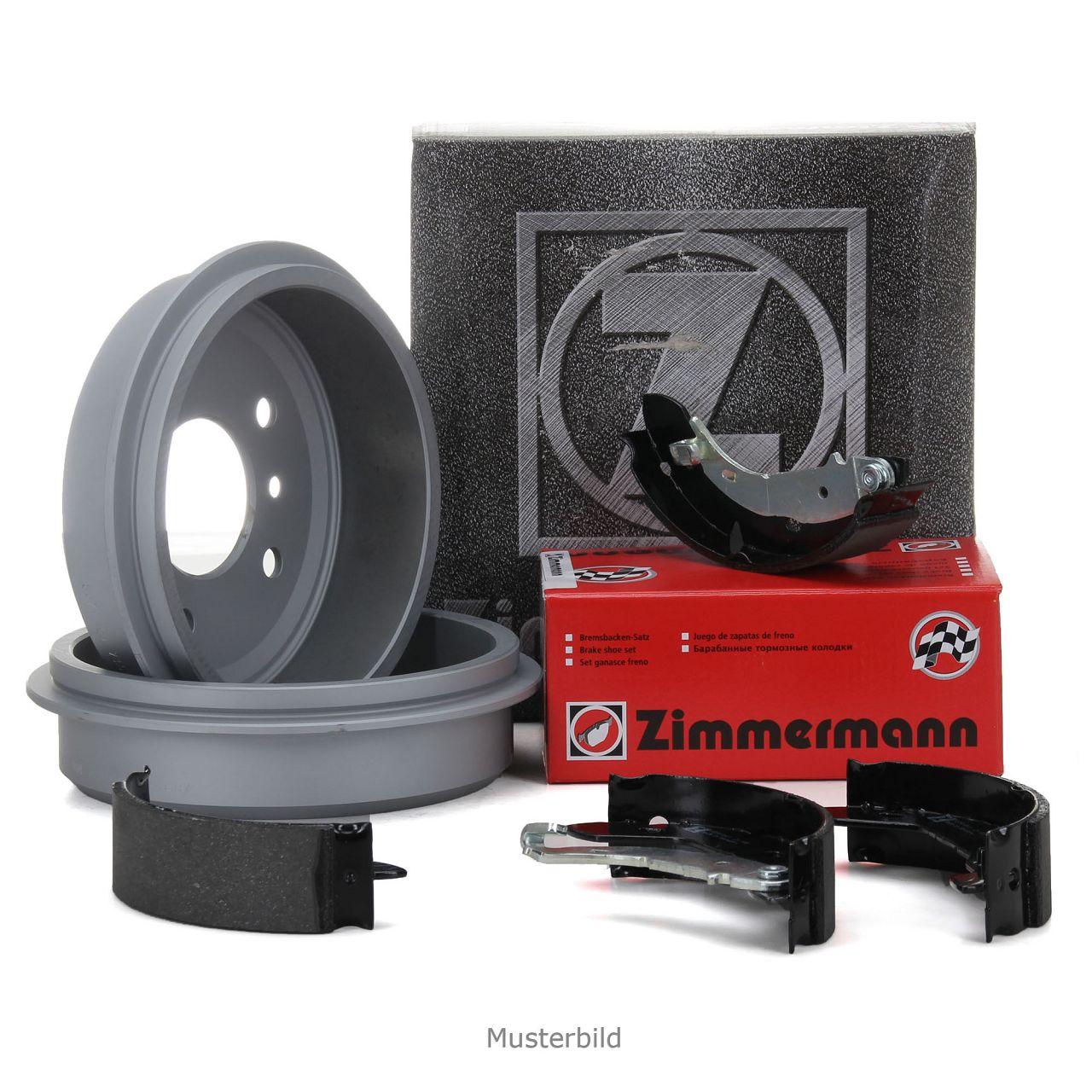ZIMMERMANN Bremstrommeln + Bremsbacken für VW Golf 2 3 Passat Polo Vento hinten