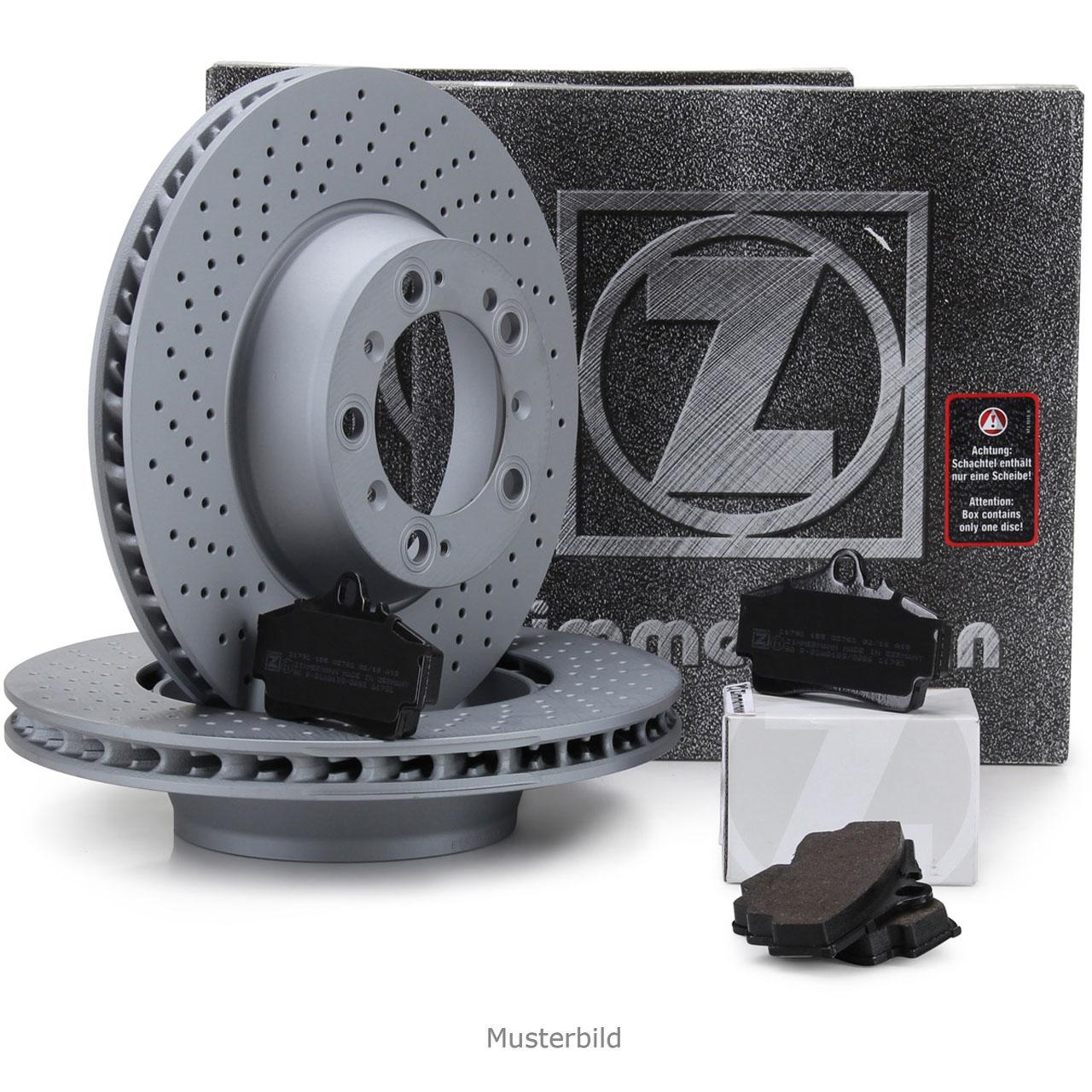 ZIMMERMANN Bremsscheiben Beläge für PORSCHE BOXSTER CAYMAN 987 S 3.2/3.4 hinten