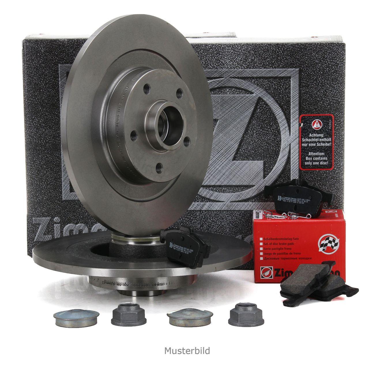 ZIMMERMANN Bremsen Bremsscheiben + Radlager + Beläge für Citroen C4 II hinten