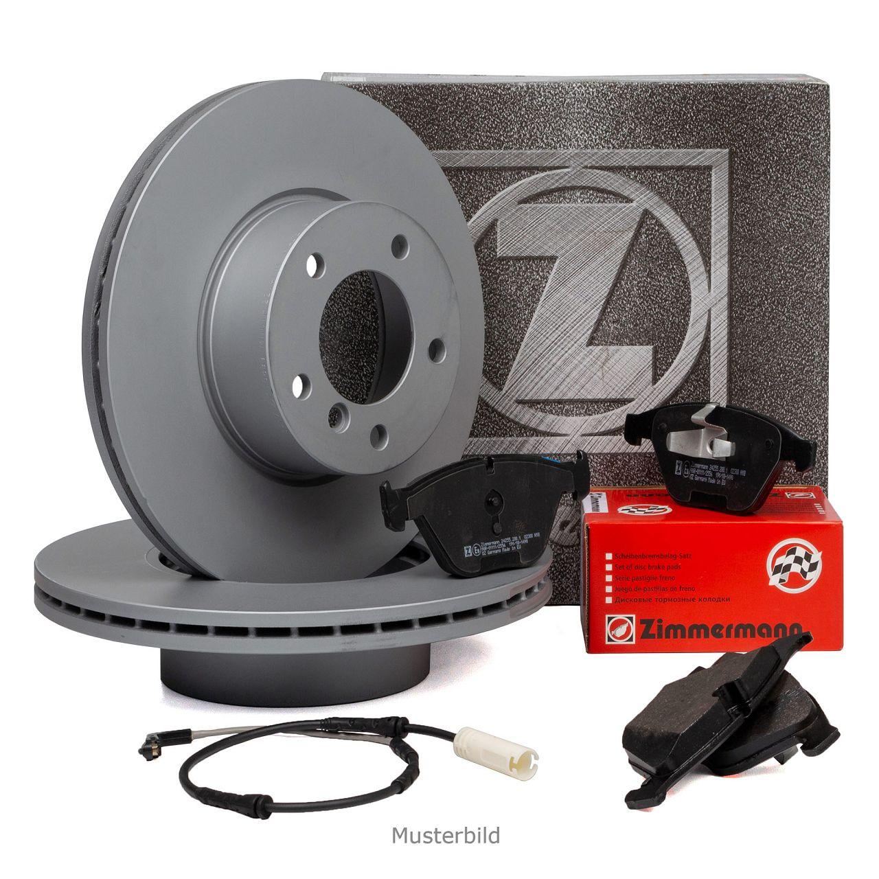 ZIMMERMANN Bremsscheiben + Beläge + Wako für MINI R56 R57 R55 ONE / COOPER vorne