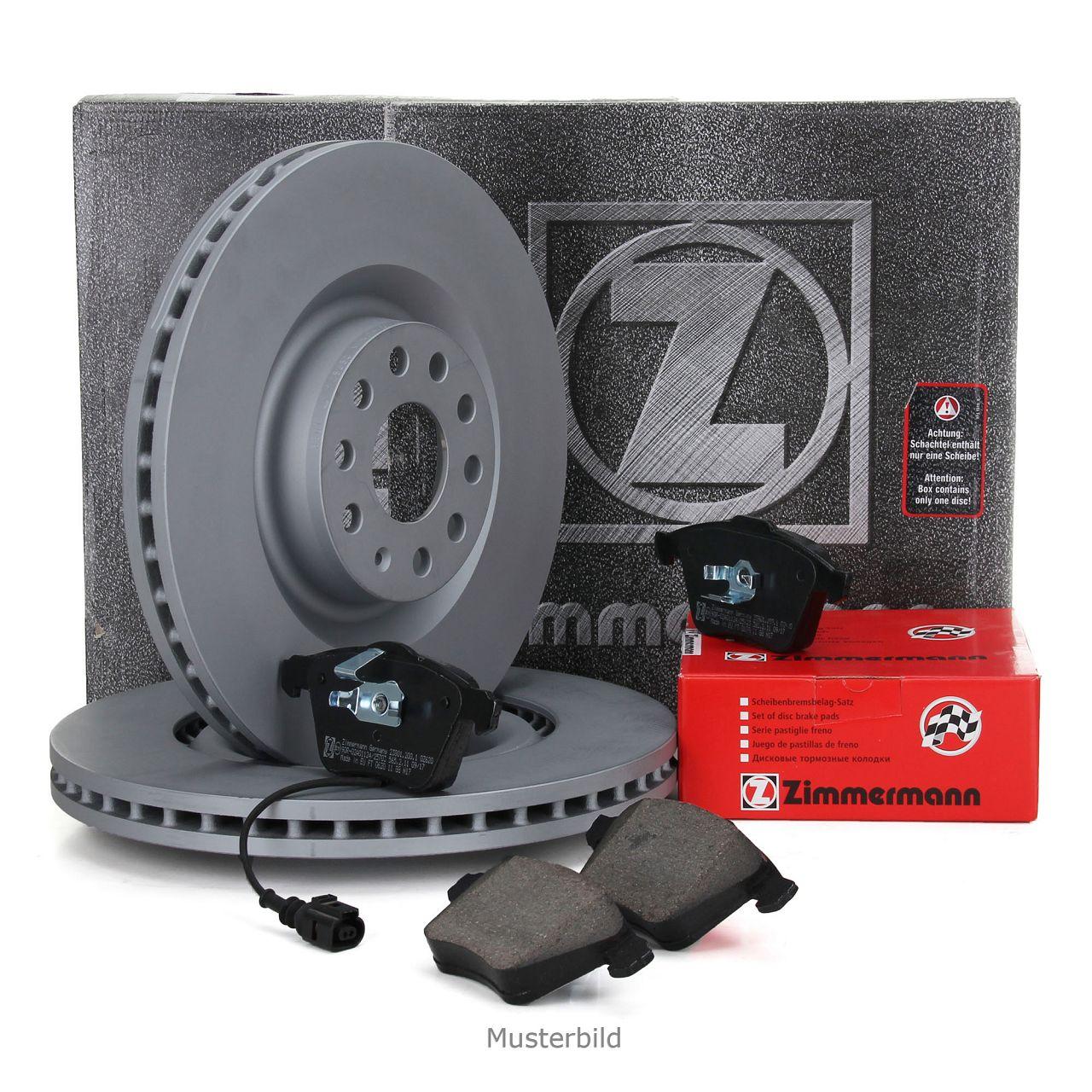 ZIMMERMANN Bremsscheiben Beläge Wako für AUDI A8 (4D2) 4.2 + S8 + 3.3 TDI vorne