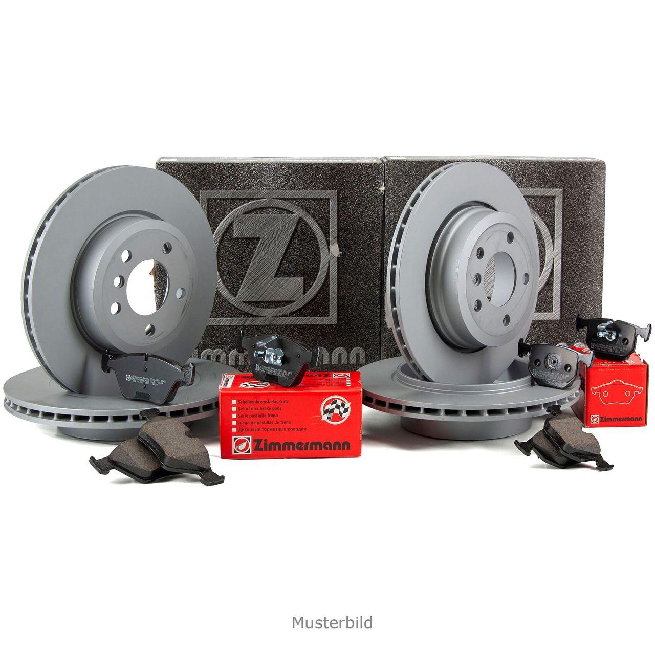 ZIMMERMANN Bremsscheiben + Beläge PORSCHE Cayenne (9PA) VW Touareg (7L) vorne + hinten