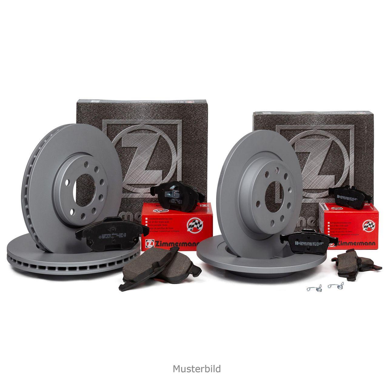 ZIMMERMANN Bremsscheiben + Beläge VOLVO 850 C70 I S70 V70 I vorne + hinten