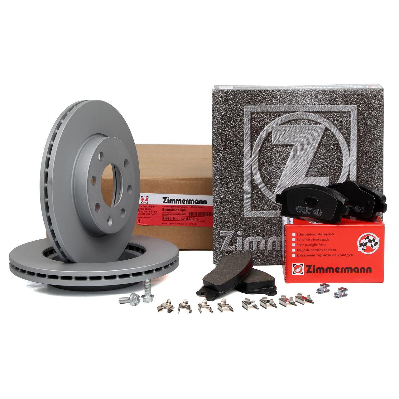 ZIMMERMANN Bremsscheiben Beläge für OPEL CORSA C 1.0 1.2 / Twinport 1.7 DI vorne