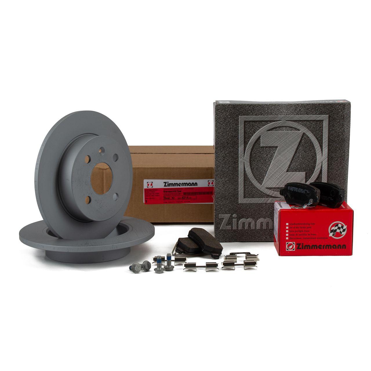 ZIMMERMANN Bremsscheiben + Beläge OPEL Astra G H Meriva A mit ABS hinten