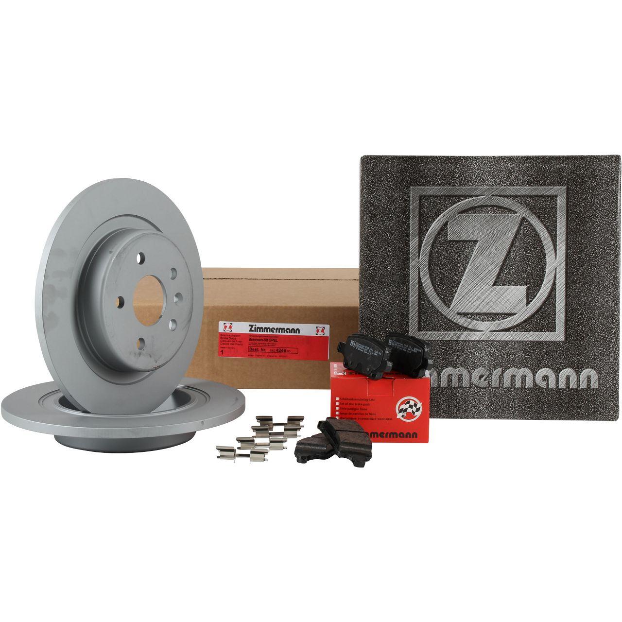 ZIMMERMANN Bremsscheiben + Beläge OPEL Astra K 16 Zoll RPO J60 hinten