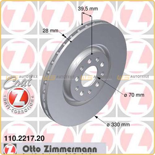 ZIMMERMANN Bremsen Kit Bremsscheiben + Beläge + Wako Alfa Romeo 159 Spider vorne