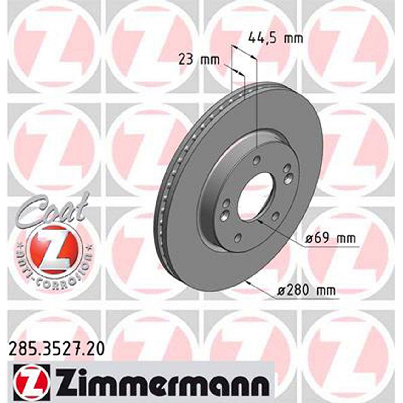 2x Bremsscheibe für Bremsanlage Vorderachse ATE 24.0123-0123.1
