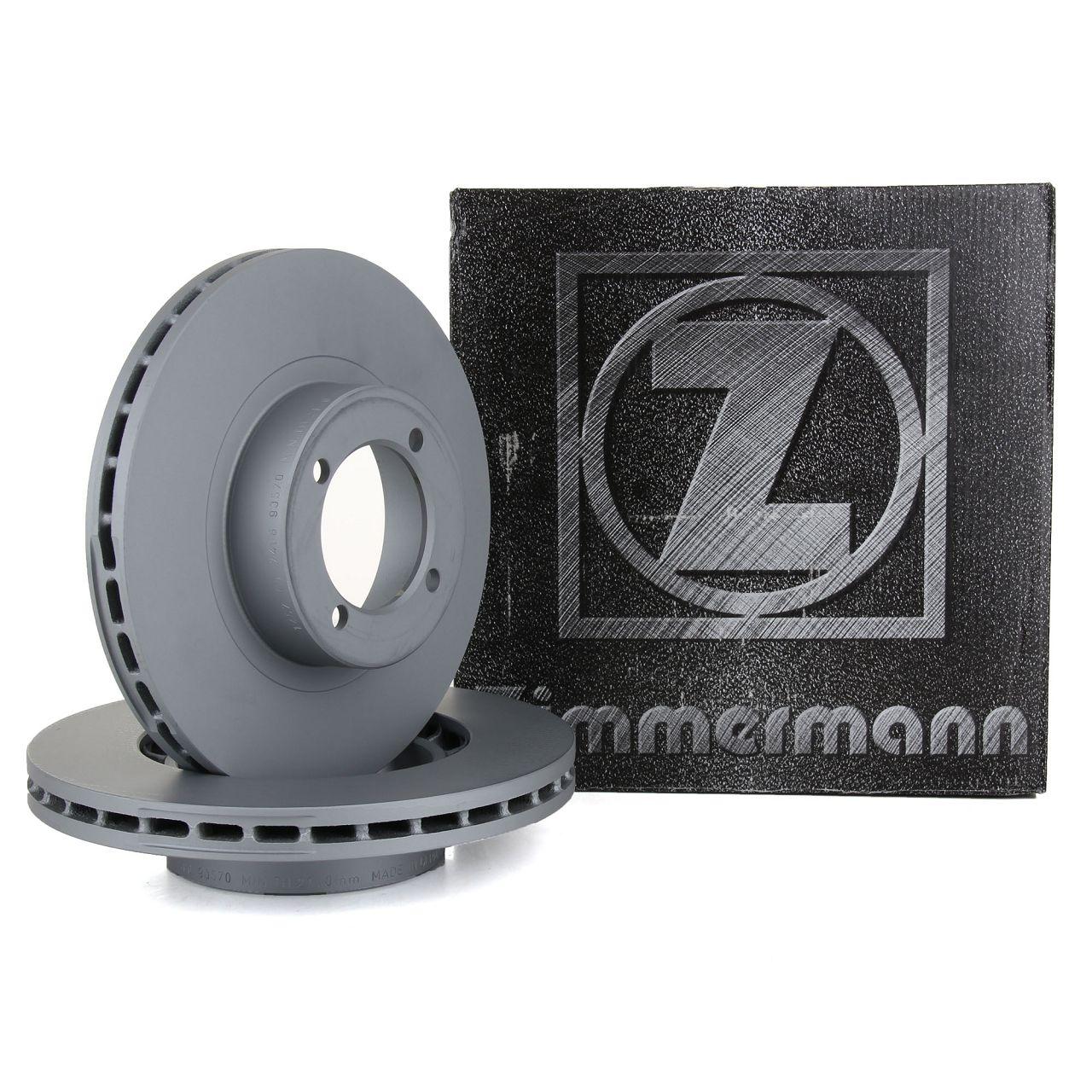 ZIMMERMANN Bremsscheiben für OPEL REKORD E 2.0E 2.2E 110/115 PS ohne ABS vorne