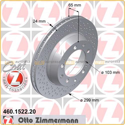 ZIMMERMANN Bremsscheiben Set für PORSCHE 911 (993) 3.6/3.8Carrera vorne + hinten