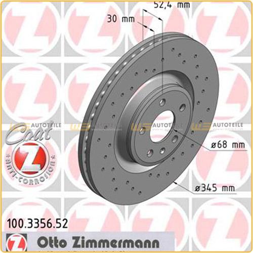 ZIMMERMANN Bremsen SPORT Bremsscheiben + Bremsbeläge für Audi A4 8K B8 A5 vorne