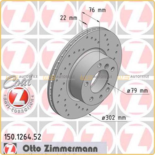 Zimmermann SPORT Bremsscheiben + Beläge + WK für BMW E34 525-535i E32 730i vorne