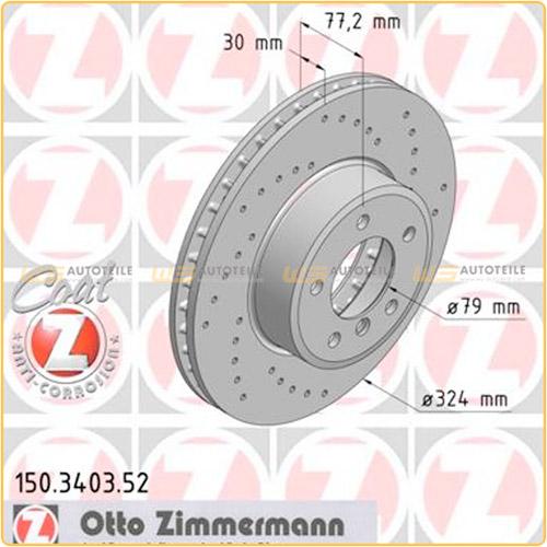 Zimmermann SPORT Bremsscheiben Beläge Wako für BMW 5er E60 E61 6er E63 E64 vorne