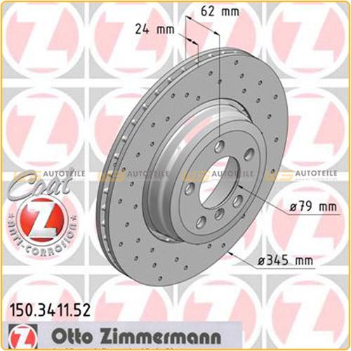 ZIMMERMANN Bremsen SPORT Bremsscheiben + Beläge für BMW E65 E66 E67 740d hinten