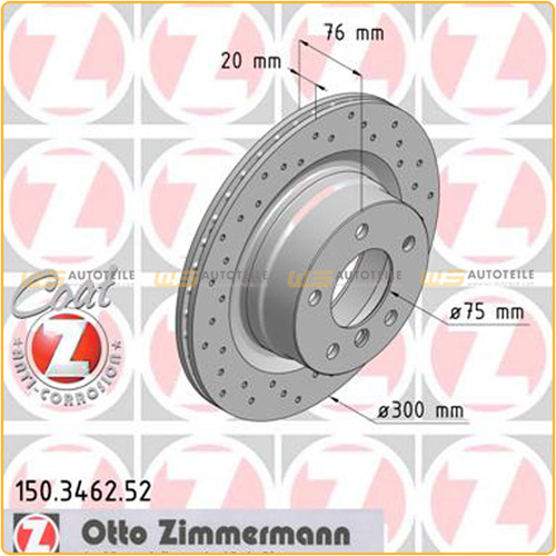 Zimmermann SPORT Bremsscheiben Beläge BMW 1er E88 E82 118-125i 118d 120d hinten