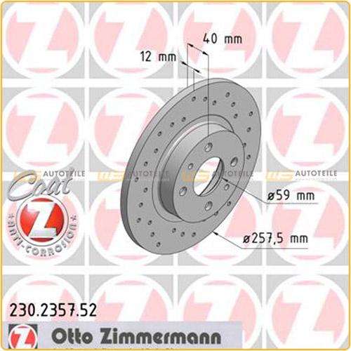 Zimmermann SPORT Bremsscheiben Beläge Wako FIAT Brava Bravo 182 Marea 185 vorne