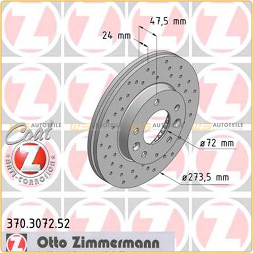 Zimmermann SPORT Bremsscheiben Beläge MAZDA 6 Station Wagon (GY) 1.8 120 PS vorne