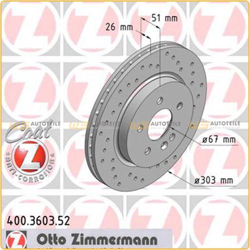 Zimmermann SPORT Bremsscheiben Beläge für MERCEDES W163 ML230/320 ML270CDI vorne