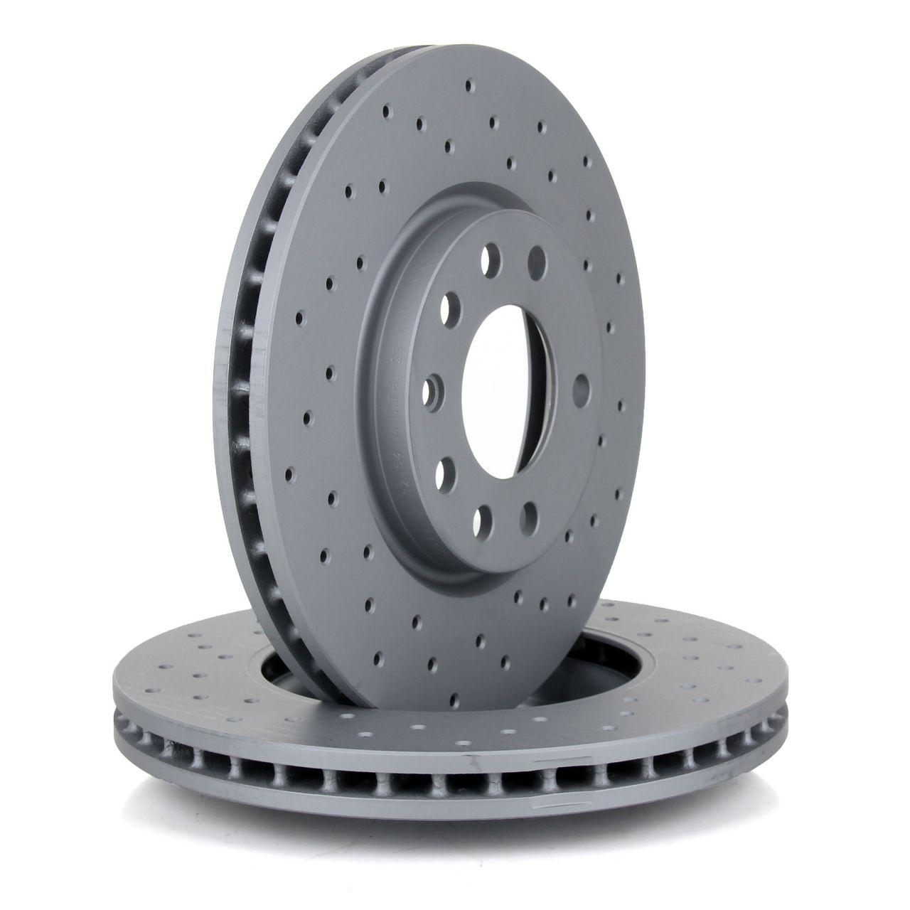 ZIMMERMANN Bremsen SPORT Bremsscheiben + Beläge für Opel Corsa D 5-Loch vorne