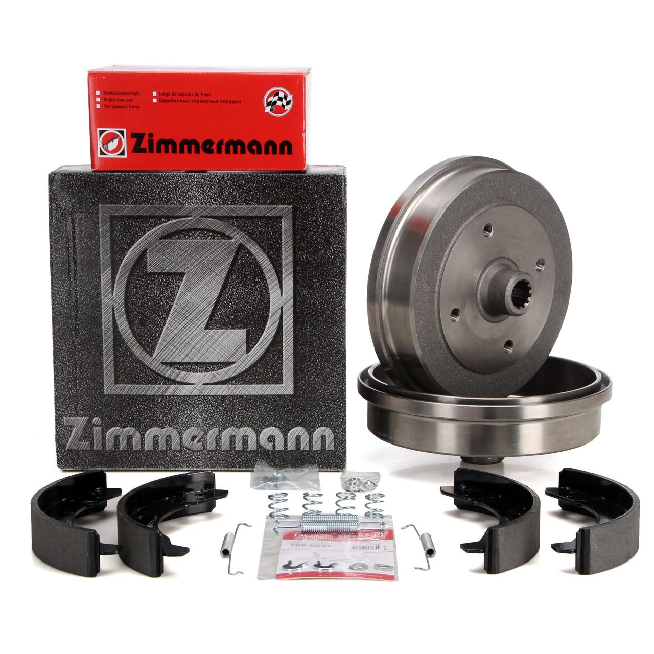 ZIMMERMANN Bremstrommeln + Backen VW Käfer 1200 1300 1302 1303 1500 hinten
