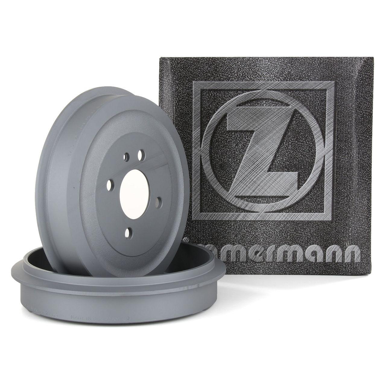 ZIMMERMANN Bremstrommeln Satz für BMW 3er E30 Limo + Cabrio 316-320i 324d hinten