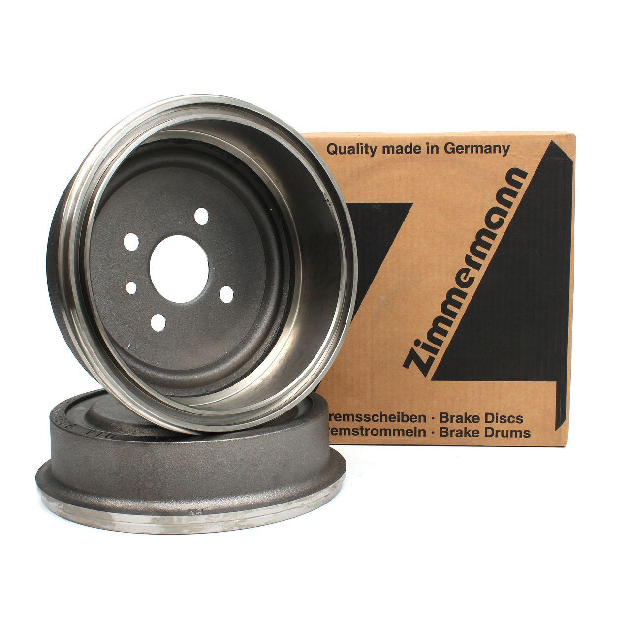 ZIMMERMANN Bremstrommeln für Opel Ascona Combo GT Kadett Manta Rekord hinten