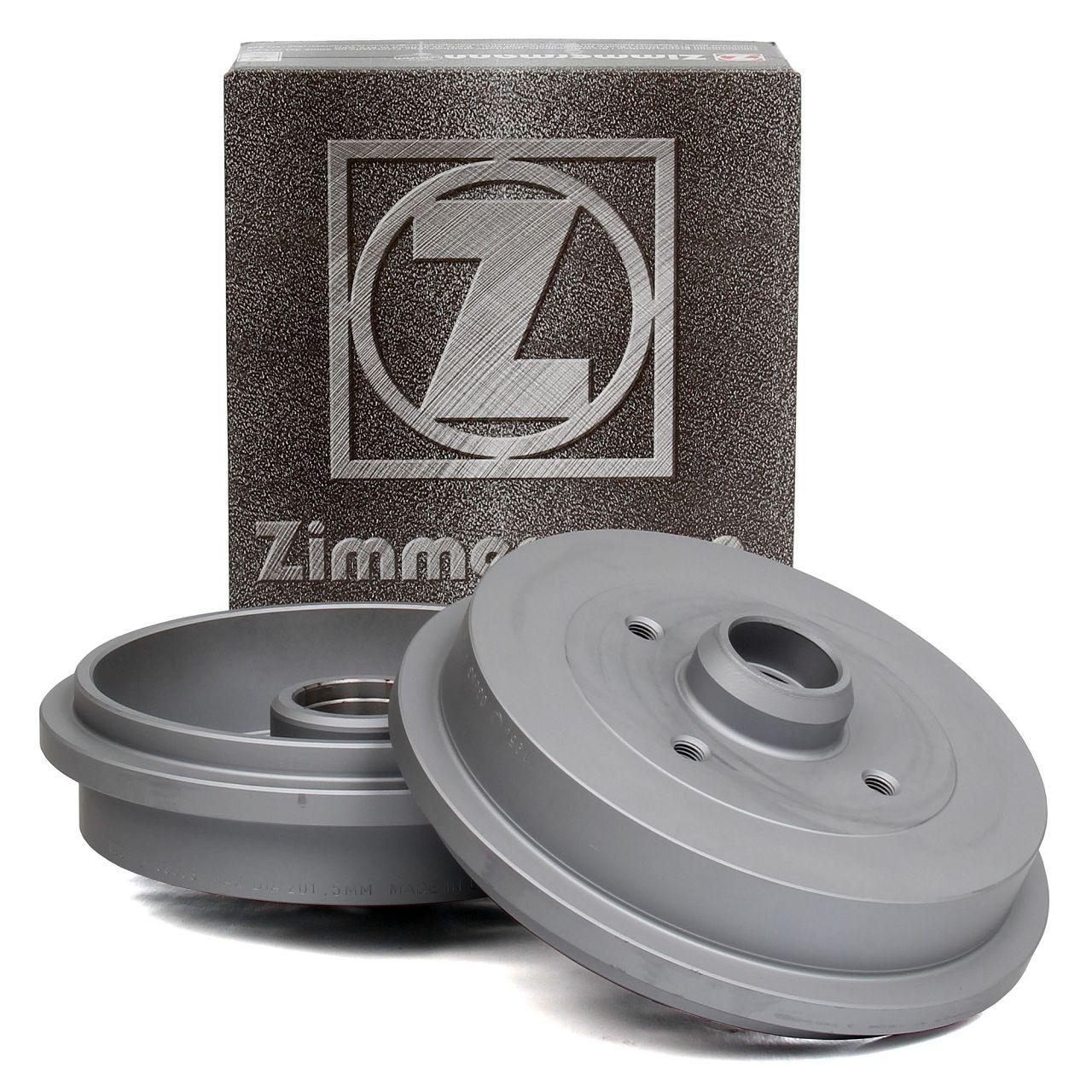 ZIMMERMANN Bremstrommeln für AUDI SEAT IBIZA 2 VW GOLF 2 3 PASSAT POLO hinten