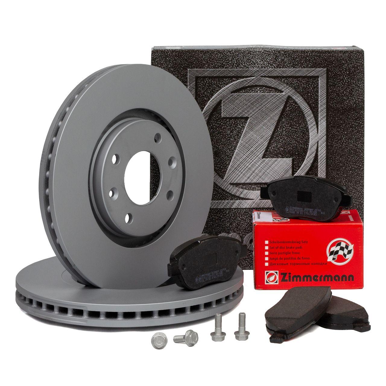 ZIMMERMANN Bremsscheiben Beläge für CITROEN C3 II C4 I PEUGEOT 206 207 307 vorne
