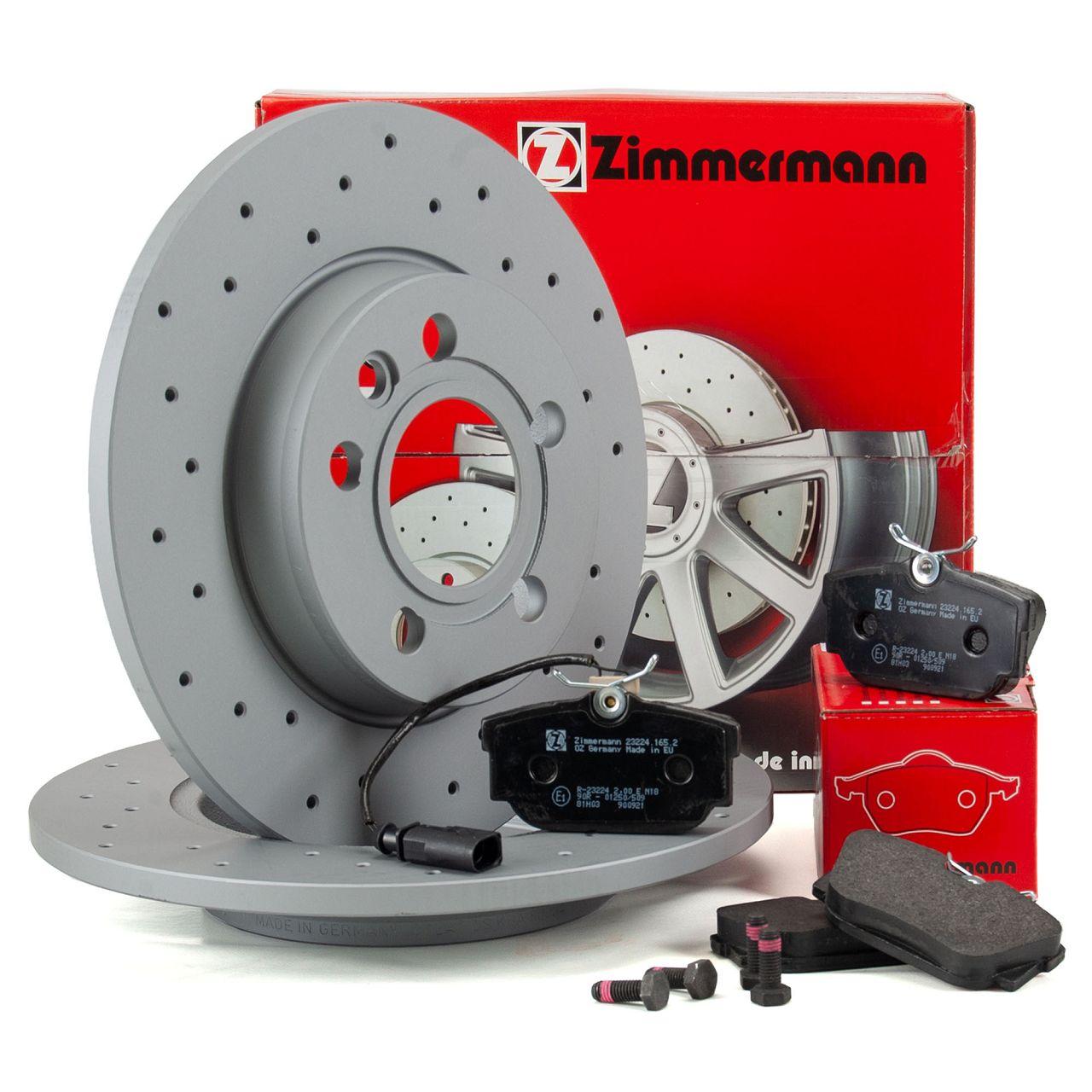 Zimmermann SPORT Bremsscheiben Beläge Wako für VW TRANSPORTER T4 15 Zoll hinten