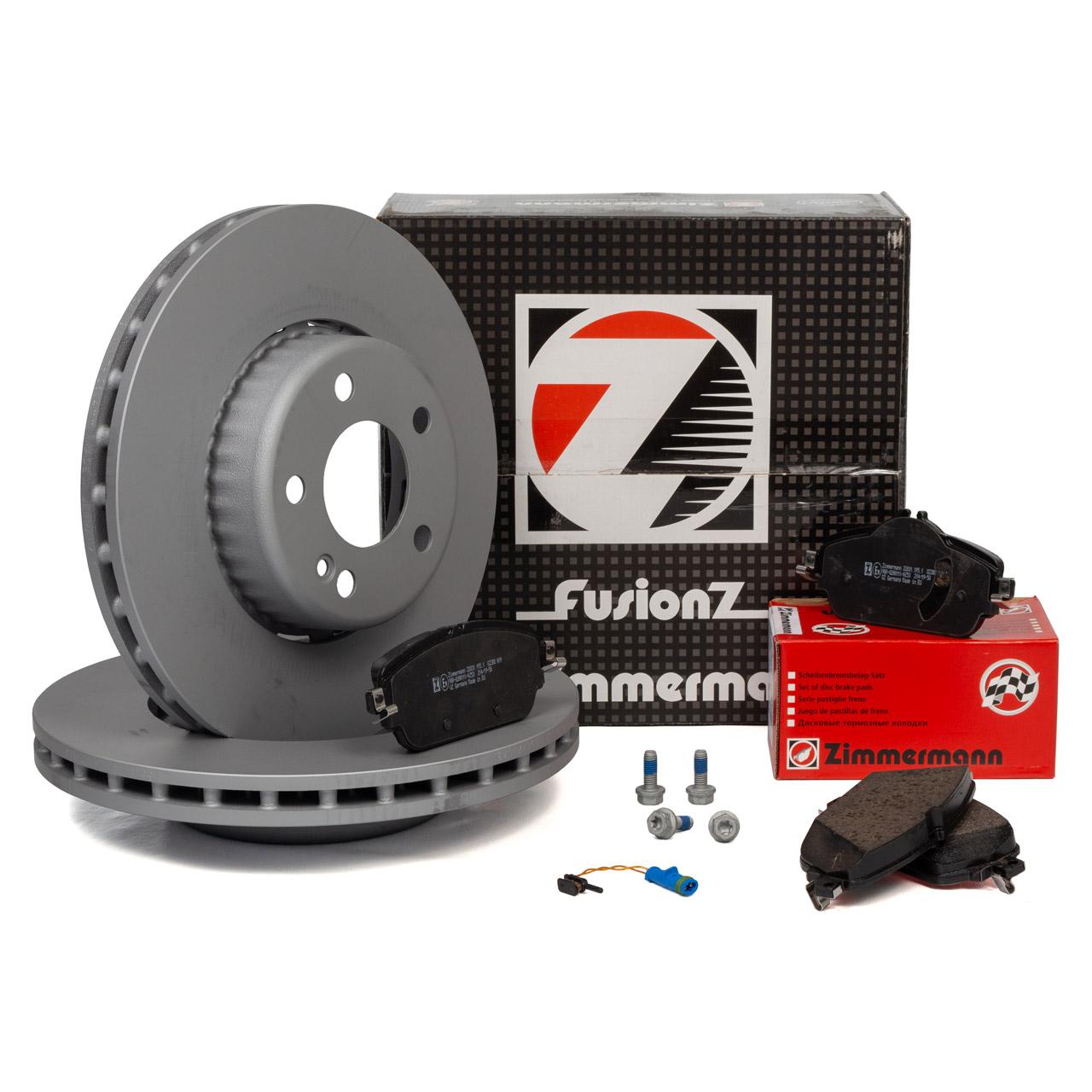 Zimmermann FORMULA S Bremsscheiben + Beläge + Wako MERCEDES W205 S205 W213 S213 vorne