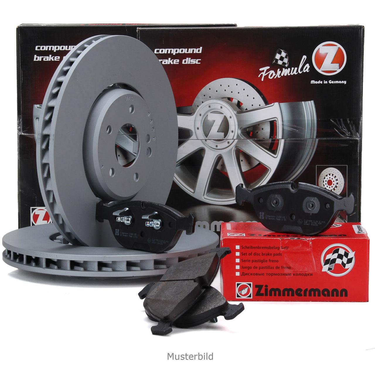 Zimmermann FORMULA Z Bremsscheiben + Beläge für AUDI A6 (C7) A7 (4G) A8 vorne