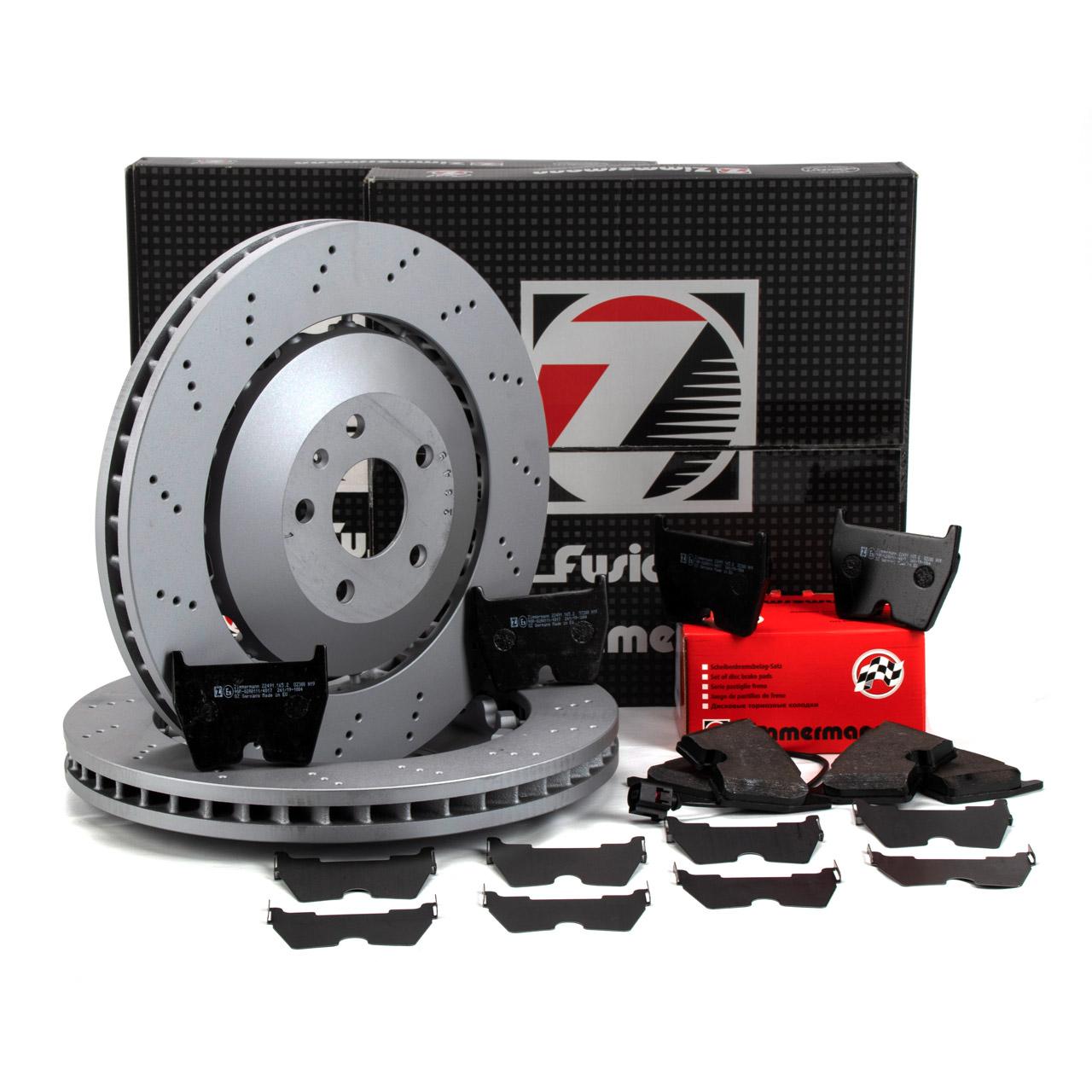 Zimmermann FORMULA Z Bremsscheiben Beläge für AUDI RSQ3 (8U) 310/340/367PS vorne