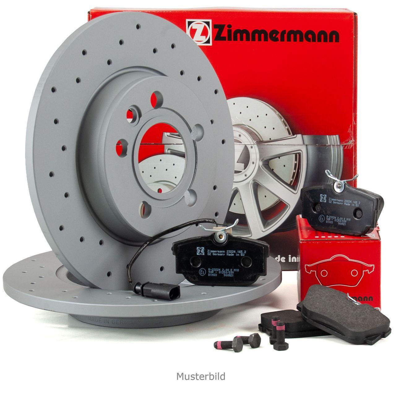 ZIMMERMANN Bremsen SPORT Bremsscheiben + Bremsbeläge für Audi A4 8D B5 hinten
