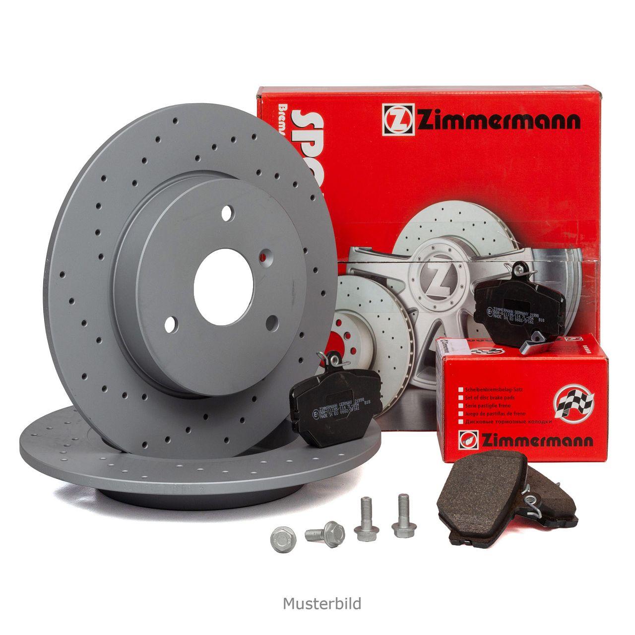 Zimmermann SPORT Bremsscheiben + Beläge für MERCEDES E-KLASSE W124 C124 hinten