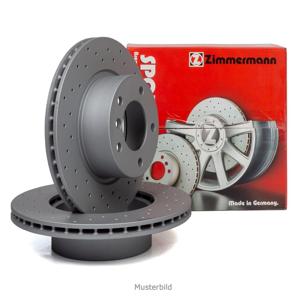 Zimmermann SPORT Bremsscheiben für AUDI A8 (4E) 1KW VW PHAETON (3D) 1KP hinten