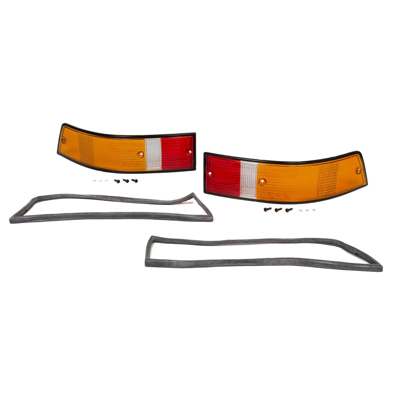 2x Rücklichtglas + Dichtung SCHWARZ EU-Version PORSCHE 911 70-90 links + rechts