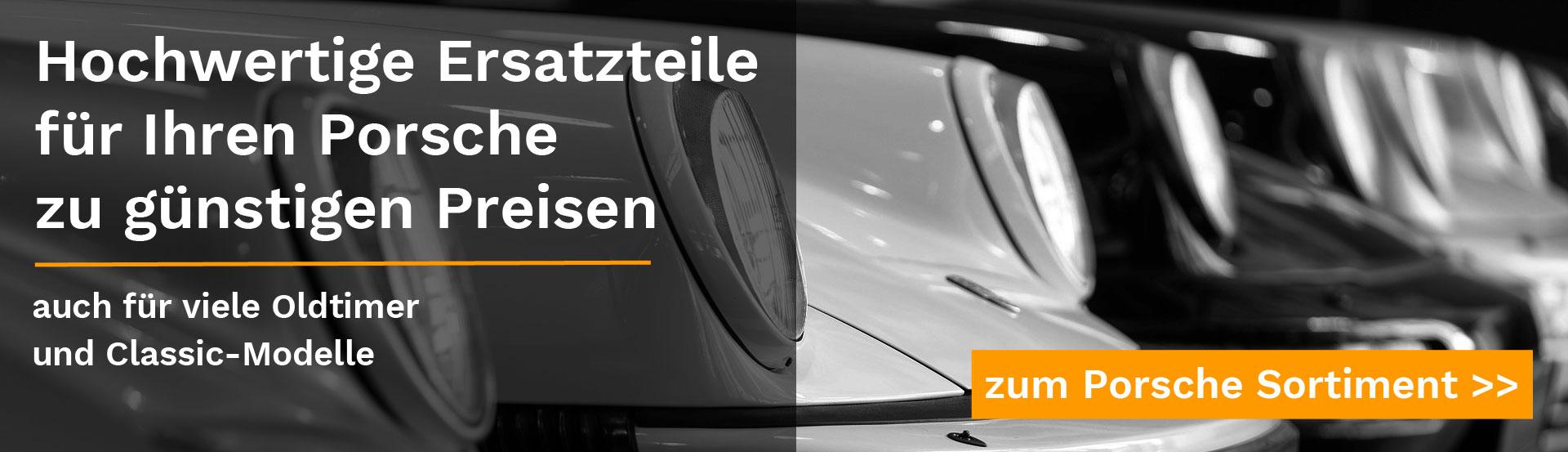 Headerbild für Porsche Ersatzteile Landingpage