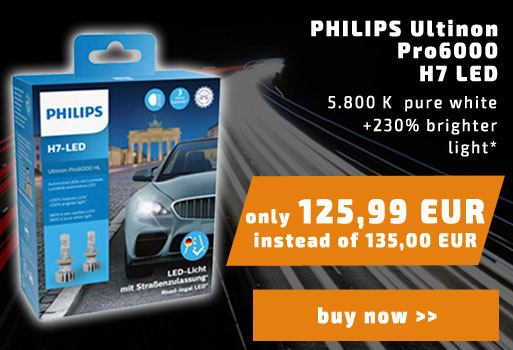 2x PHILIPS Ultinon Pro6000 H7 LED