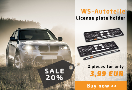 WS-Autoteile Double pack license plate holder