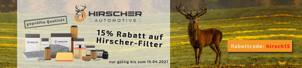 15% Rabattaktion auf Hirscher-Filter