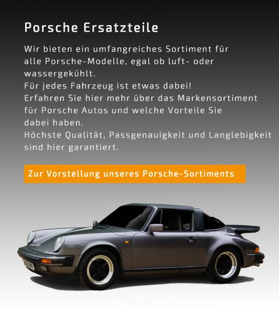 Teaser für die Porsche Ersatzteile Seite mobil