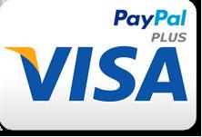 Zahlung per VISA Kreditkarte / ein Service von PAYPAL Plus